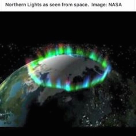 Earth aurora crown