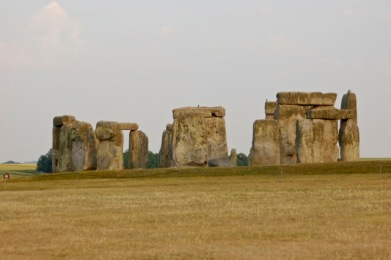 Stonehenge brown grass